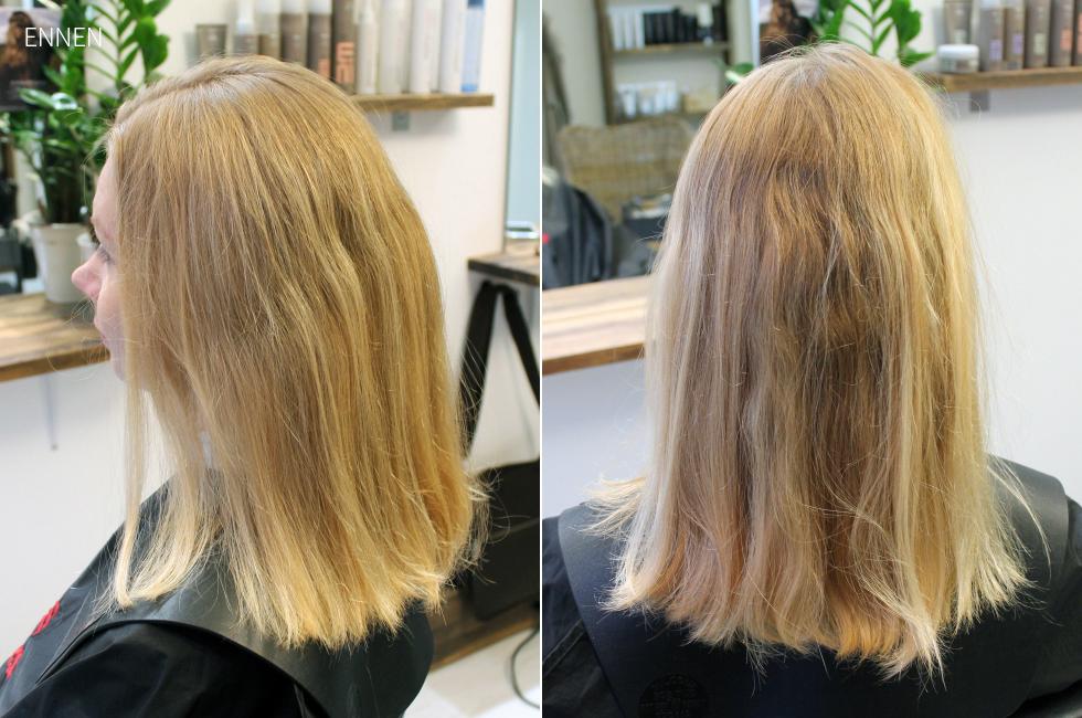 kellertävät hiukset